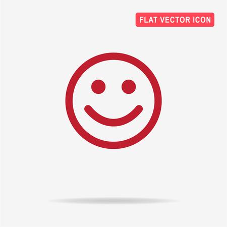 Happy face icon. Vector concept illustration for design. Illustration