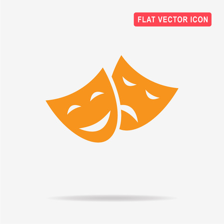 Theater icon. Vector concept illustration for design.