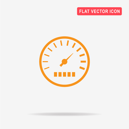 mile: Speedometer icon. Vector concept illustration for design. Illustration