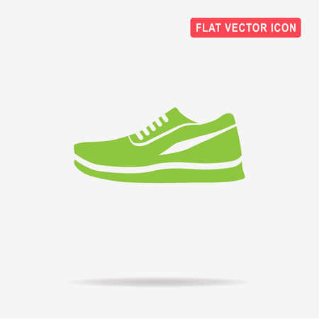 foot gear: Running shoes icon. Vector concept illustration for design.