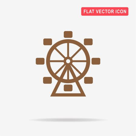 Ferris wheel icon. Vector concept illustration for design.