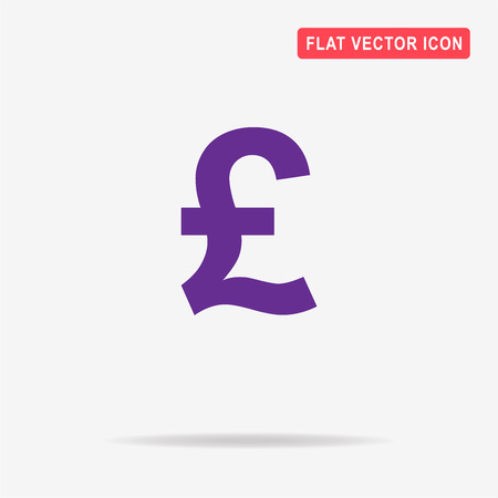 Pound sterling icon. Vector concept illustration for design.