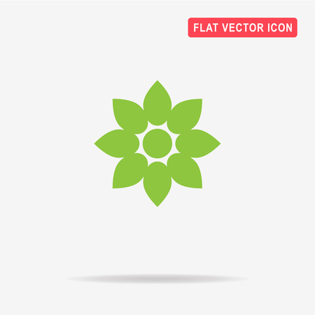 Flower icon. Vector concept illustration for design.