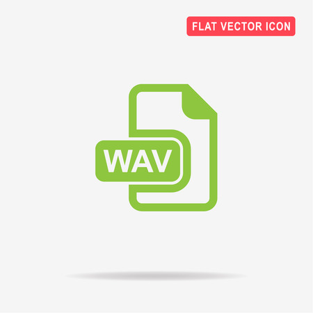 wav: Wav icon. Vector concept illustration for design.
