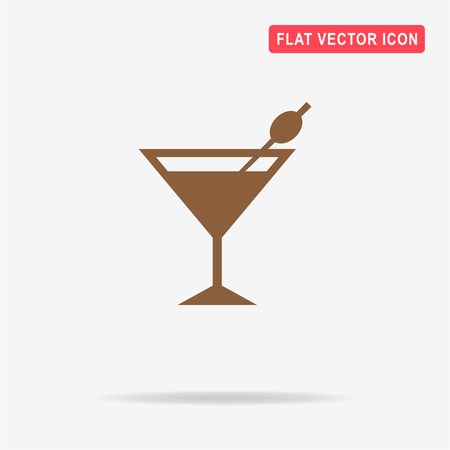 toothpick: Martini glass icon. Vector concept illustration for design.