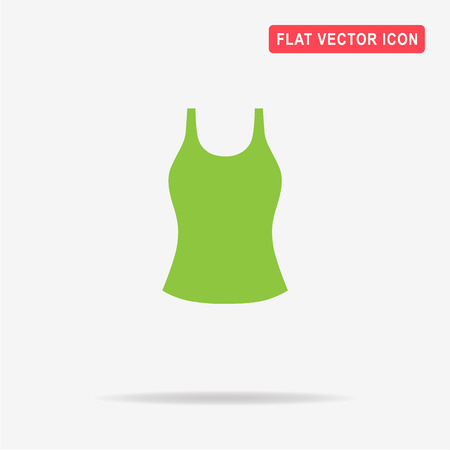 Woman top icon. Vector concept illustration for design. Illustration