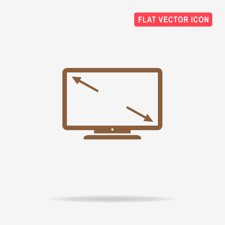 display size: Tv screen size icon. Vector concept illustration for design.