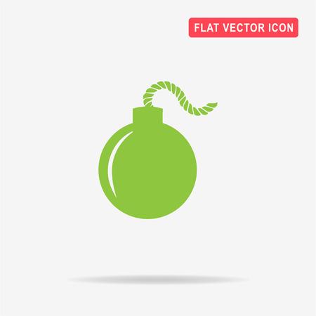 Bomb icon. Vector concept illustration for design.