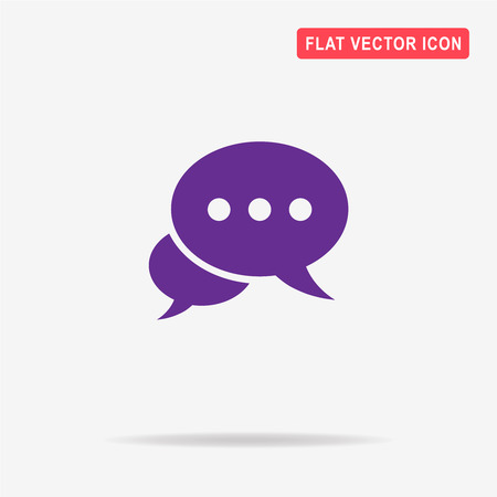 spech bubble: Message or chat icon. Vector concept illustration for design. Illustration