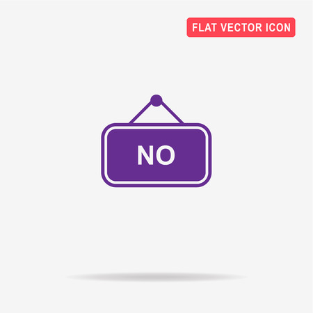 denial: No banner icon. Vector concept illustration for design. Illustration