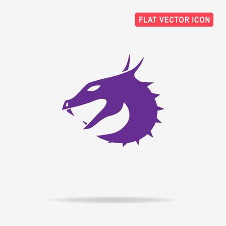 Dragon icon. Vector concept illustration for design.
