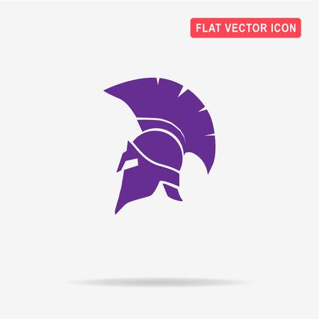 legends: Helmet icon. Vector concept illustration for design.