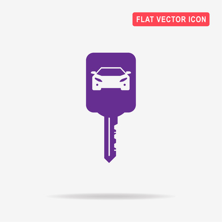 starter: Car key icon. Vector concept illustration for design.
