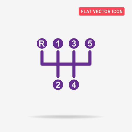 shifter: Manual transmission sign icon. Vector concept illustration for design.
