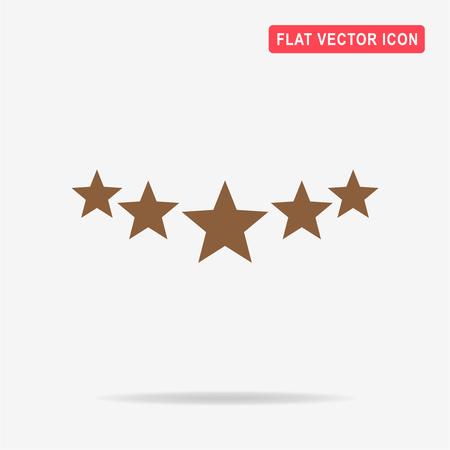 5 stars icon. Vector concept illustration for design.