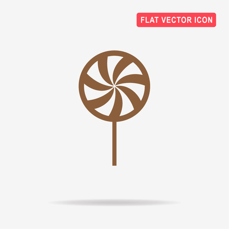 peppermint candy: Peppermint candy icon. Vector concept illustration for design.