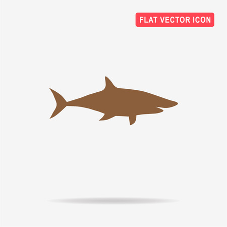 Shark icon. Vector concept illustration for design.