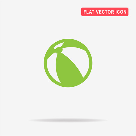 Beach ball icon. Vector concept illustration for design.