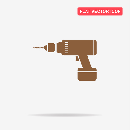 puncher: Drill icon. Vector concept illustration for design.