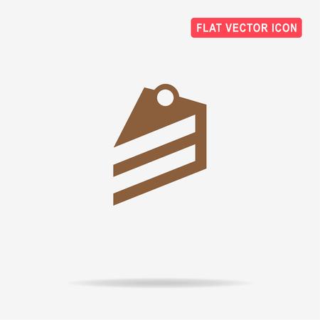 porcion de pastel: Piece of cake icon. Vector concept illustration for design. Vectores