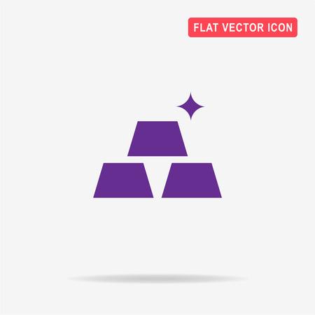 goldbar: Gold icon. Vector concept illustration for design.
