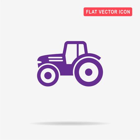 Tractor icon. Vector concept illustration for design. Illustration