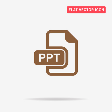 ppt: Ppt icon. Vector concept illustration for design.