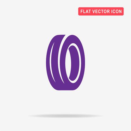 Road tire icon. Vector concept illustration for design.