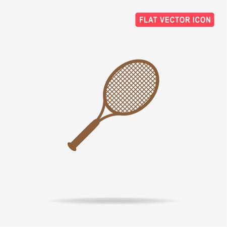 bounce: Tennis racket icon. Vector concept illustration for design.