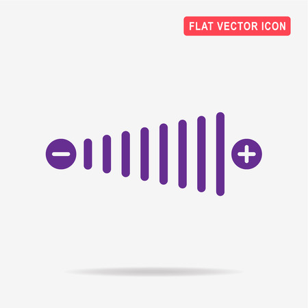 louder: Volume icon. Vector concept illustration for design.