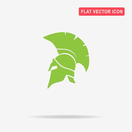 antiquarian: Helmet icon. Vector concept illustration for design.