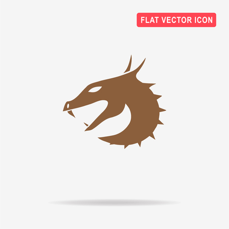 barbed: Dragon icon. Vector concept illustration for design.
