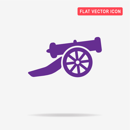 calibre: Cannon icon. Vector concept illustration for design.