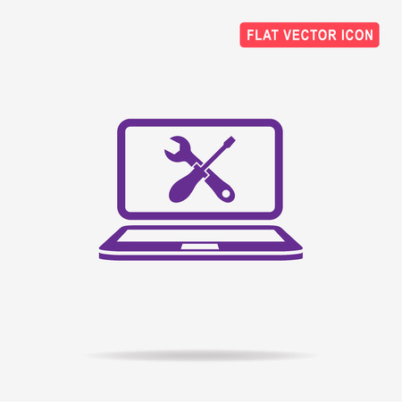 computer repair: Repair computer icon. Vector concept illustration for design. Illustration