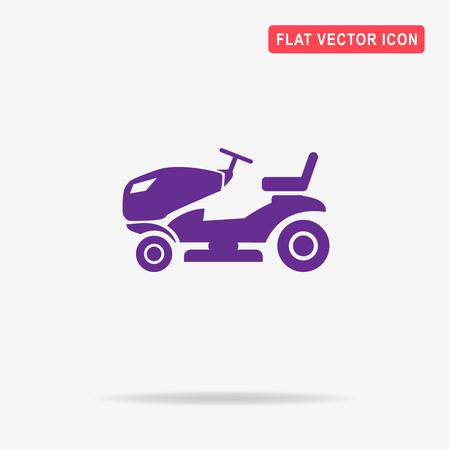 Lawn tractor icon. Vector concept illustration for design.