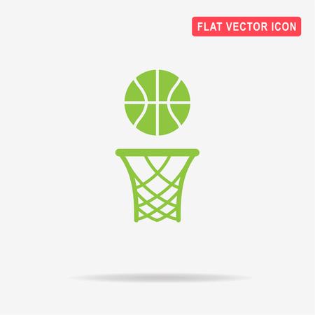 rim: Basketball rim icon. Vector concept illustration for design. Illustration