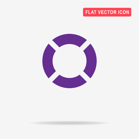Lifebuoy icon. Vector concept illustration for design.