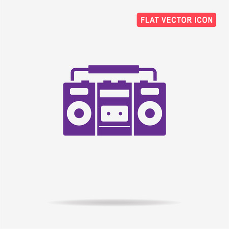 electronic 80s: Boombox icon. Vector concept illustration for design. Illustration
