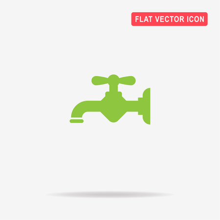 Water faucet icon. Vector concept illustration for design. Illustration