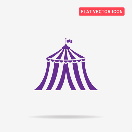 서커스 텐트 아이콘입니다. 디자인을위한 벡터 개념 그림입니다.