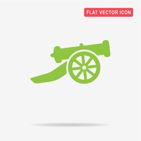 Cannon icon. Vector concept illustration for design.