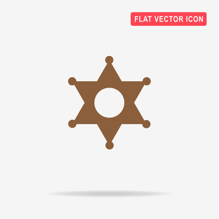 Sheriff star icon. Vector concept illustration for design.