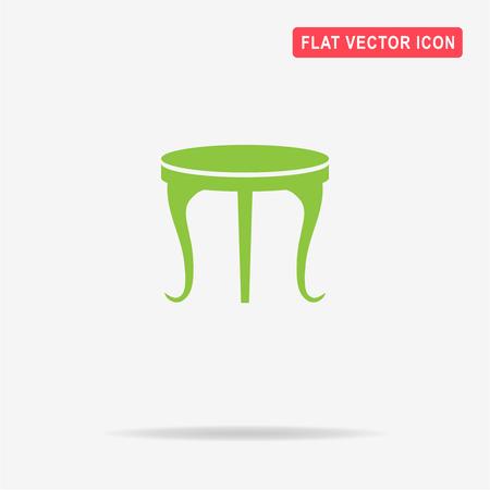 soiree: Table icon. Vector concept illustration for design. Illustration