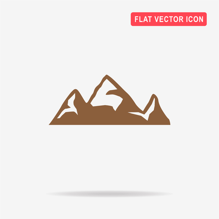 Mountain icon. Vector concept illustration for design. Illustration