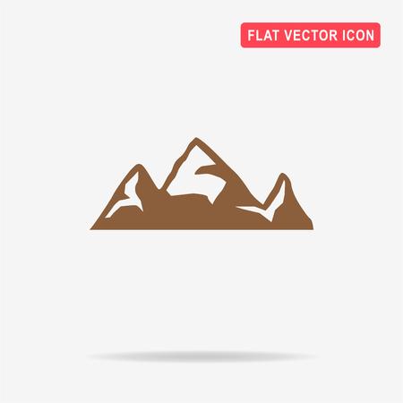 peaks: Mountain icon. Vector concept illustration for design. Illustration
