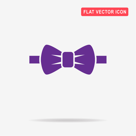 official wear: Bow tie icon. Vector concept illustration for design.