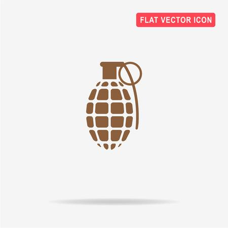 lanzamiento de bala: icono de granada. Vector ilustración del concepto para el diseño. Vectores