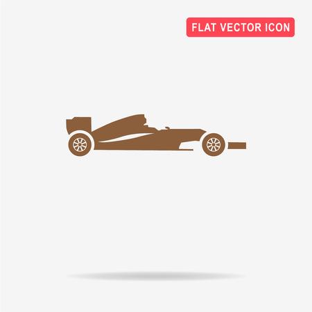 racecar: Race car icon. Vector concept illustration for design.