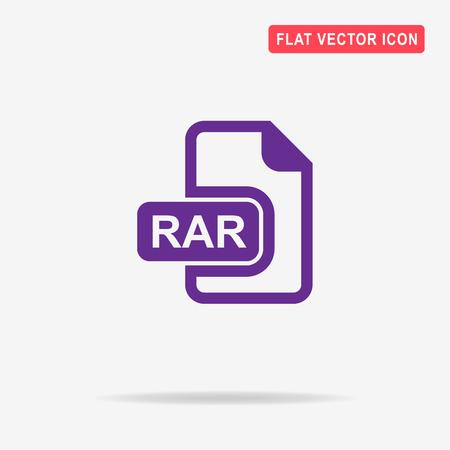 rar: Rar icon. Vector concept illustration for design.
