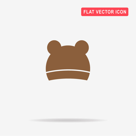 mens clothing: Hat with ears icon. Vector concept illustration for design. Illustration